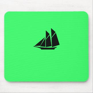 Podadoras de Glow_black-on-green del océano Alfombrilla De Raton