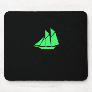Podadoras de Glow_green del océano Tapetes De Ratón