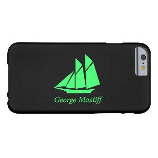 Podadoras Ship_personalize de Glow_Green-on-Black Funda De iPhone 6 Barely There