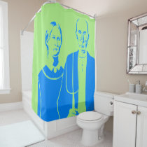 podalmighty.net america SHOWER CURTAIN BLUE GREEN
