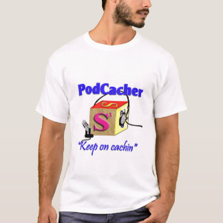 PodCacher with URL on back T-Shirt
