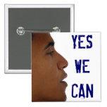 Podemos abotonar sí con el perfil de Obama Pin