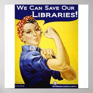 Podemos ahorrar nuestro poster de las bibliotecas
