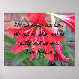 Podemos cambiar nuestras vidas póster