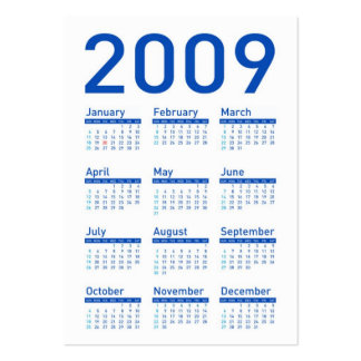 Podemos celebrar sí - el calendario del bolsillo tarjetas de visita grandes