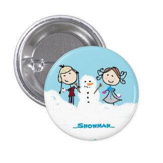 """""""… Podemos construir un muñeco de nieve… """" Pin Redondo 2,5 Cm"""