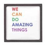Podemos hacer cosas asombrosas caja de recuerdo de calidad