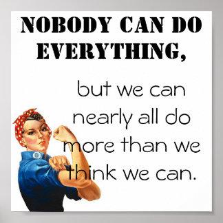 ¡Podemos hacer más que pensamos que podemos! Póster