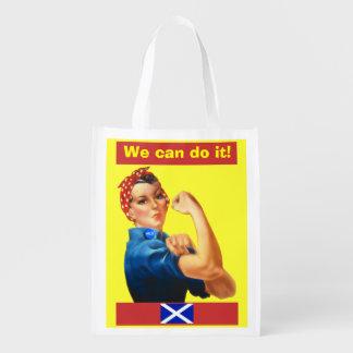 Podemos hacerlo bolso de ultramarinos escocés de bolsa de la compra