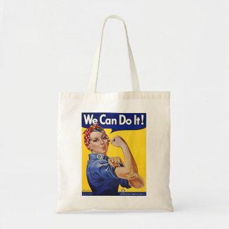 Podemos hacerlo - imagen del poster del vintage bolsa tela barata