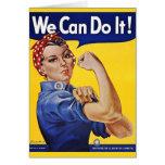 Podemos hacerlo - imagen del poster del vintage tarjetas