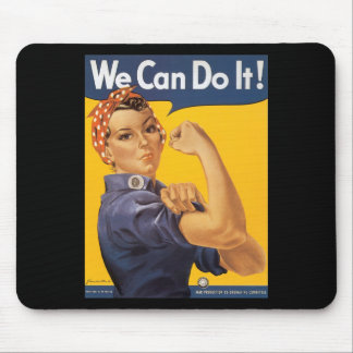 ¡Podemos hacerlo! Mujer del poster de la guerra de Tapete De Ratones