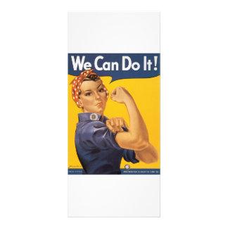 ¡Podemos hacerlo! Mujer del poster de la guerra de Tarjeta Publicitaria A Todo Color