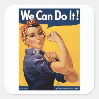 ¡Podemos hacerlo! Pegatina Cuadrada