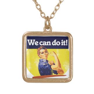 Podemos hacerlo remachador de Rosie Collar Dorado