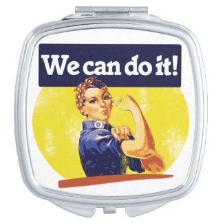 Podemos hacerlo remachador de Rosie Espejos De Viaje