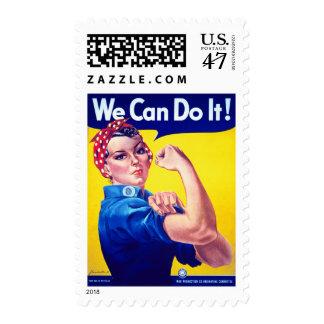 Podemos hacerlo Rosie el franqueo del remachador Timbres Postales