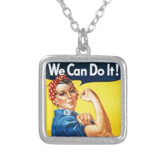 ¡Podemos hacerlo! - Rosie el icono del vintage del Collar Plateado