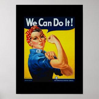 Podemos hacerlo Rosie el poster del remachador