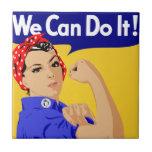 ¡Podemos hacerlo! Rosie el poster del remachador W Azulejo Cerámica