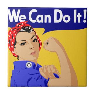 ¡Podemos hacerlo! Rosie el poster del remachador W Azulejo Cuadrado Pequeño
