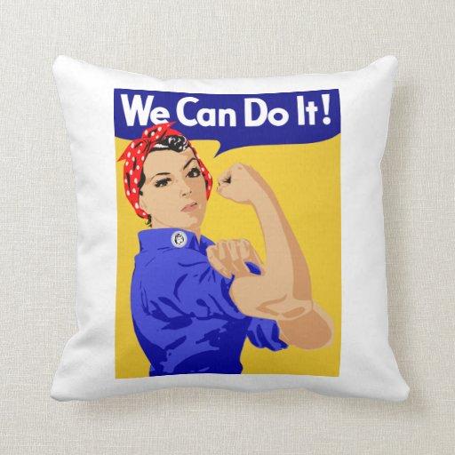 ¡Podemos hacerlo! Rosie el poster del remachador W Almohadas