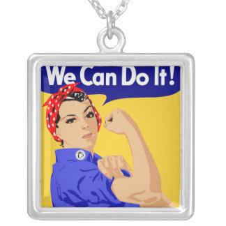 ¡Podemos hacerlo! Rosie el poster del remachador W Colgante Cuadrado
