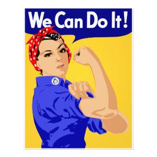 ¡Podemos hacerlo! Rosie el poster del remachador W Tarjetón