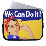 ¡Podemos hacerlo! Rosie el poster del remachador W Fundas Portátiles