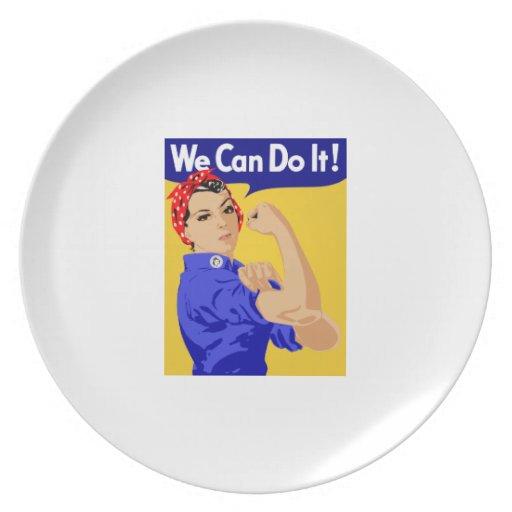 ¡Podemos hacerlo! Rosie el poster del remachador W Platos