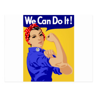 ¡Podemos hacerlo! Rosie el poster del remachador W Postales