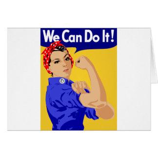 ¡Podemos hacerlo! Rosie el poster del remachador W Tarjeta De Felicitación