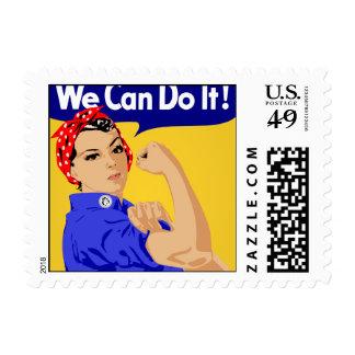 ¡Podemos hacerlo! Rosie el poster del remachador W Timbre Postal