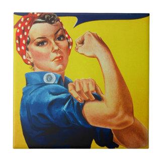 Podemos hacerlo Rosie el remachador Azulejo Cuadrado Pequeño