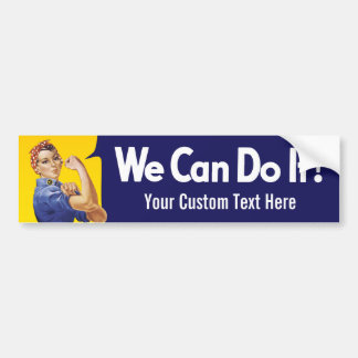 ¡Podemos hacerlo! Rosie el remachador Pegatina Para Auto