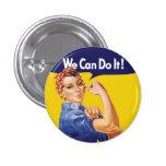 ¡Podemos hacerlo! Rosie el remachador Pin Redondo De 1 Pulgada