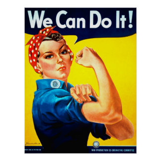 ¡Podemos hacerlo! Rosie el remachador Póster