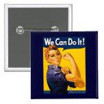 ¡Podemos hacerlo! Rosie el vintage WW2 del remacha Pins