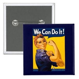 ¡Podemos hacerlo Rosie el vintage WW2 del remacha Pins