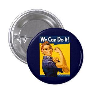 ¡Podemos hacerlo! Rosie el vintage WW2 del remacha Pin Redondo De 1 Pulgada