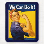 ¡Podemos hacerlo! Rosie el vintage WW2 del remacha Tapete De Ratón