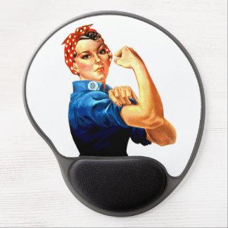 Podemos hacerlo Rosie la propaganda del remachador Alfombrilla Con Gel