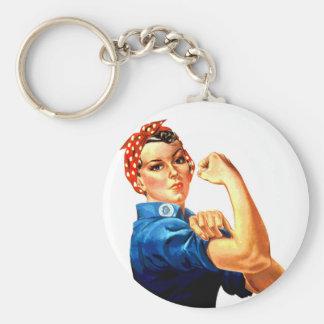 Podemos hacerlo Rosie la propaganda del remachador Llavero Redondo Tipo Pin