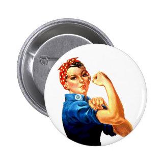 Podemos hacerlo Rosie la propaganda del remachador Pin Redondo De 2 Pulgadas