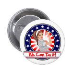 Podemos hacerlo Rosie patriótico moderno el remach Pin