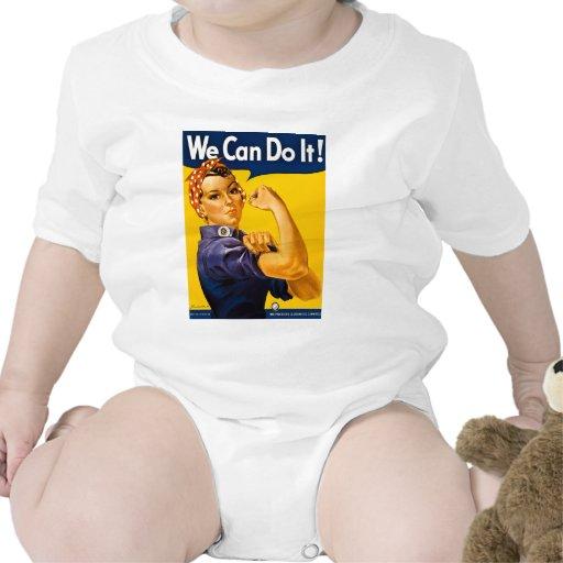 ¡Podemos hacerlo! Vintage Rosie el remachador WW2 Traje De Bebé