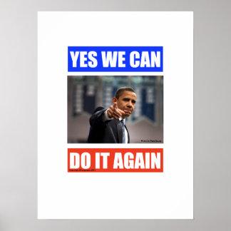 Podemos lo hacemos sí otra vez poster de Obama