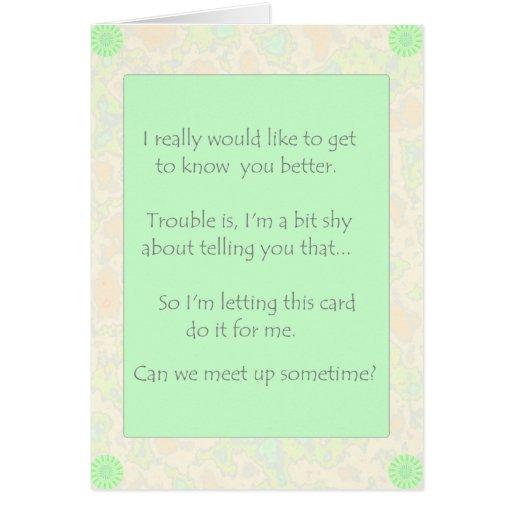 Podemos nos encontramos encima de… tarjeta de felicitación