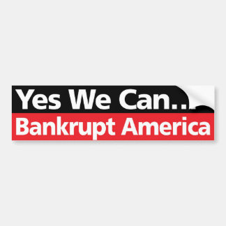 Podemos sí… América arruinada Pegatina De Parachoque