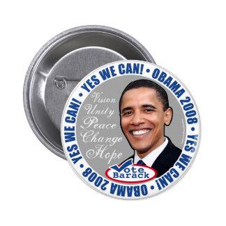 ¡Podemos sí! Botón de Obama Pin Redondo De 2 Pulgadas
